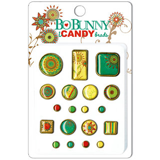 Bo Bunny Press - Flower Child Collection - I Candy Brads - Flower Child, CLEARANCE