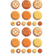 Bo Bunny Press - Double Dot - Brads - Orange Citrus, CLEARANCE