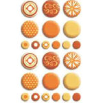 Bo Bunny Press - Double Dot - Brads - Orange Citrus, CLEARANCE