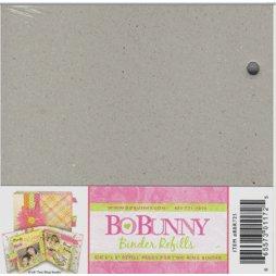 Bo Bunny Press - 6x6 Bare Naked Binder - Six Refills