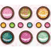 Bo Bunny Press - Love Shack Collection - I Candy Brads - Sari, CLEARANCE