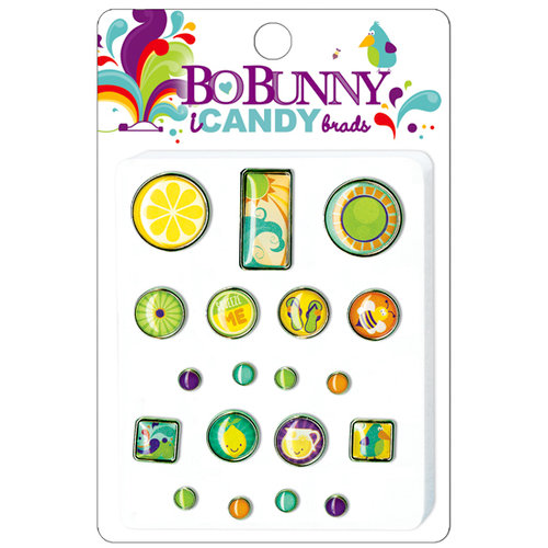 Bo Bunny Press - Sun Kissed Collection - I Candy Brads - Sun Kissed, CLEARANCE