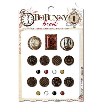 Bo Bunny Press - Timepiece Collection - Brads