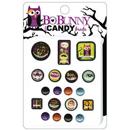 Bo Bunny Press - Whoo-ligans Collection - Halloween - I Candy Brads - Whoo-ligans, CLEARANCE