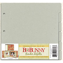 Bo Bunny - 9x9 Bare Naked Binder - Refill Kit - 6 Tabbed Refill Pages