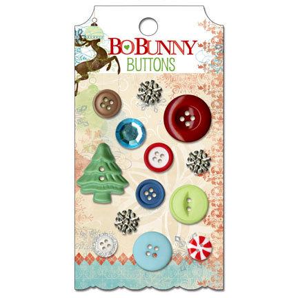Bo Bunny - Blitzen Collection - Christmas - Buttons