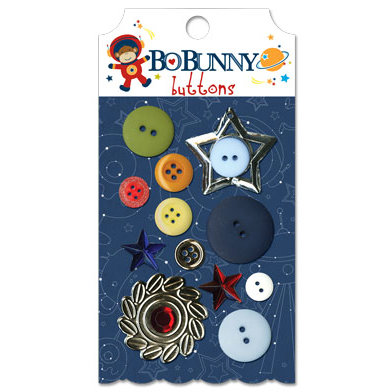 Bo Bunny Press - Blast Off Collection - Buttons