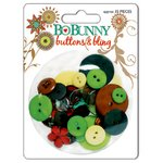 Bo Bunny Press - Flower Child Collection - Buttons and Bling, CLEARANCE