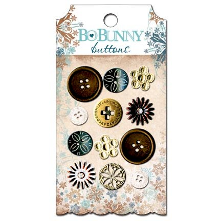 Bo Bunny Press - Snowfall Collection - Buttons