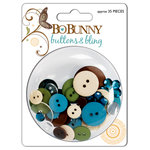 Bo Bunny Press - Flutter Butter Collection - Buttons and Bling - Flutter Butter, CLEARANCE