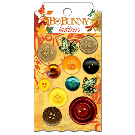 Bo Bunny Press - Forever Fall Collection - Buttons