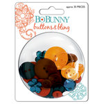 Bo Bunny Press - Gypsy Collection - Buttons and Bling - Gypsy , CLEARANCE