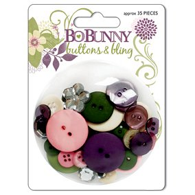Bo Bunny Press - Jazmyne Collection - Buttons and Bling, CLEARANCE