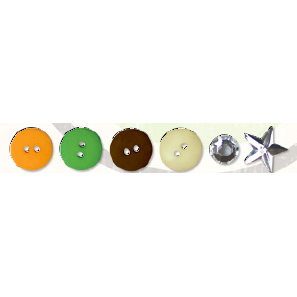 Bo Bunny Press - Mango Luau Collection - Buttons and Bling