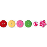 Bo Bunny Press - Popsicle Collection - Buttons and Bling, CLEARANCE