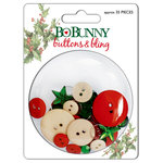 Bo Bunny Press - St. Nick Collection - Christmas - Buttons and Bling - St. Nick, CLEARANCE
