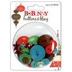 Bo Bunny Press - Tis The Season Collection - Christmas - Buttons and Bling - Tis The Season, CLEARANCE