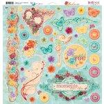 Bo Bunny - Ambrosia Collection - 12 x 12 Chipboard Stickers