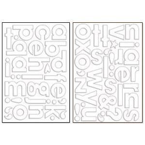 Bo Bunny Press - Chunky Chips Collection - Acrylic Alphabet - Clear, CLEARANCE
