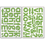 Bo Bunny Press - Chunky Chips Collection - Chipboard Alphabet Stickers - Clover, CLEARANCE