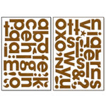 Bo Bunny Press - Chunky Chips Collection - Chipboard Alphabet Stickers - Chocolate, CLEARANCE