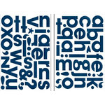 Bo Bunny Press - Chunky Chips Collection - Chipboard Alphabet Stickers - Dark Denim, CLEARANCE