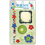 Bo Bunny Press - Block Party Collection - I Candy Chipboard - Layered Stickers with Glitter and Jewel Accents, CLEARANCE