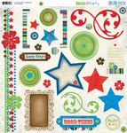 Bo Bunny Press - Block Party Collection - 12 x 12 Chipboard Stickers - Block Party