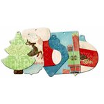 Bo Bunny Press - Blitzen Collection - Christmas - Mini Edgy Album - Blitzen