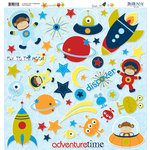 Bo Bunny Press - Blast Off Collection - 12 x 12 Chipboard Stickers - Blast Off