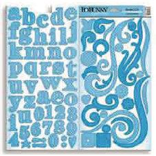 Bo Bunny Press - Double Dot - Chipboard - Brilliant Blue