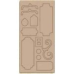 Bo Bunny Press - Bella Journee - Bare Naked Chipboard - Bella Journee 1, CLEARANCE
