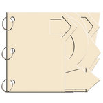 Bo Bunny Press - My Mini Edgy Album with Acrylic Cover - Arrow - Chiffon
