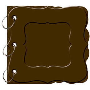 Bo Bunny Press - My Mini Edgy Album with Acrylic Cover - Bracket - Coffee, CLEARANCE