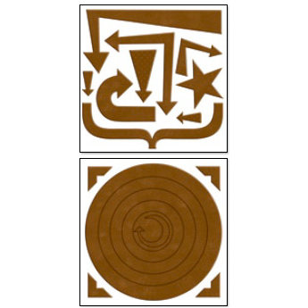 Bo Bunny Press - Chunky Charms Collection - Chipboard Stickers - Circles and Arrows - Chocolate