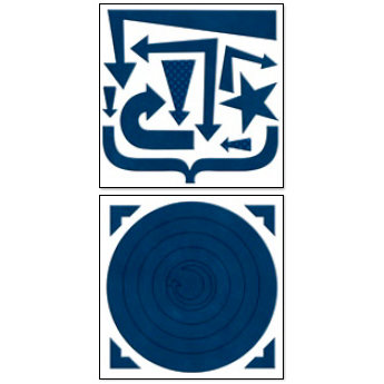 Bo Bunny Press - Chunky Charms Collection - Chipboard Stickers - Circles and Arrows - Dark Denim