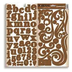Bo Bunny Press - Double Dot - Chipboard - Chocolate