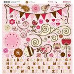 Bo Bunny Press - Crazy Love Collection - Valentine - 12 x 12 Chipboard Stickers - Crazy Love