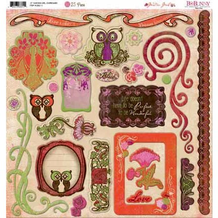 Bo Bunny - Garden Girl Collection - 12 x 12 Chipboard Stickers