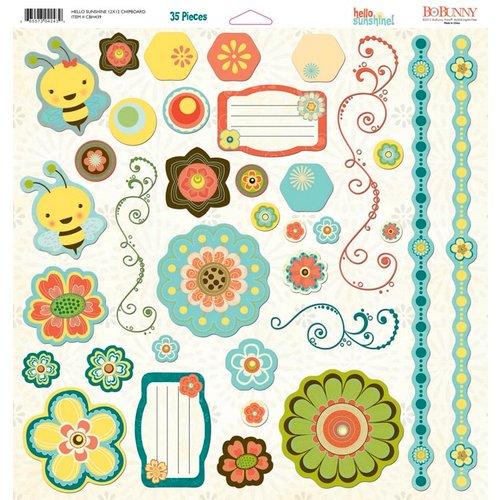Bo Bunny - Hello Sunshine Collection - 12 x 12 Chipboard Stickers