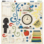 Bo Bunny Press - Learning Curve Collection - 12 x 12 Chipboard Stickers - Learning Curve