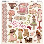 Bo Bunny Press - Little Miss Collection - 12 x 12 Chipboard Stickers