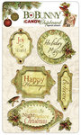 Bo Bunny Press - Noel Collection - Christmas - I Candy Chipboard - Layered Stickers with Glitter Accents