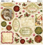 Bo Bunny Press - Noel Collection - Christmas - 12 x 12 Chipboard Stickers - Noel