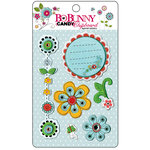 Bo Bunny Press - Petal Pushers Collection - I Candy Chipboard - Layered Stickers with Glitter and Jewel Accents, CLEARANCE