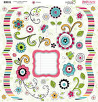 Bo Bunny Press - Petal Pushers Collection - 12 x 12 Chipboard Stickers - Petal Pushers