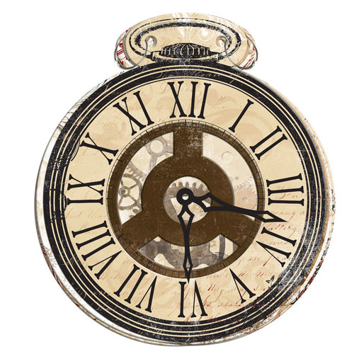 Bo Bunny Press - Timepiece Collection - Mini Edgy Album with Acrylic Cover - Pocketwatch