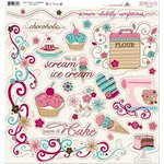 Bo Bunny - Sweet Tooth Collection - 12 x 12 Chipboard Stickers