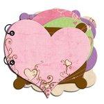 Bo Bunny Press - Smoochable Collection - Mini Edgy Album - Smoochable