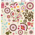 Bo Bunny Press - Sophie Collection - 12 x 12 Chipboard Stickers - Sophie